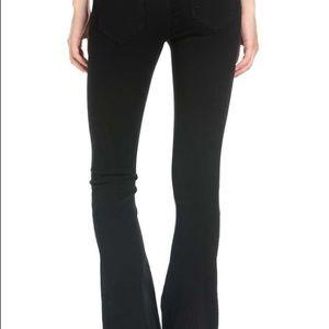 Pull On Flare Jeans, Black
